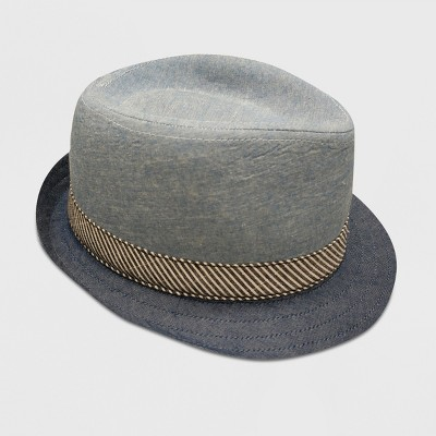 Baby Boys' Body Chambray Fedoras - Cat & Jack™ Blue 0-6M