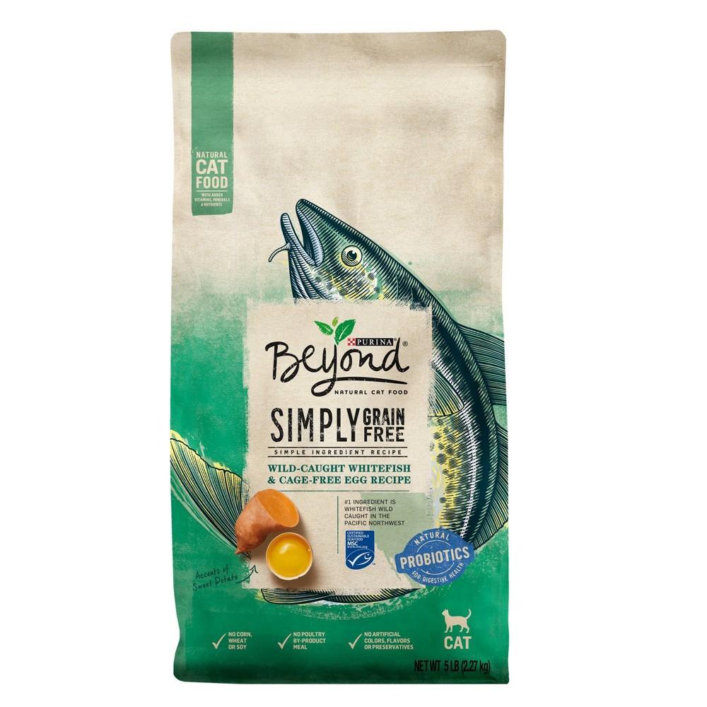 Purina Beyond Simply Grain Free Probiotics Ocean Whitefish 38 Egg Recipe Adult Premium Dry Cat Food 5lbs