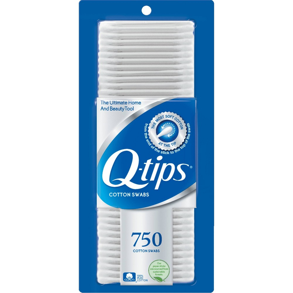 Image of Q-Tips Cotton Swabs - 750ct