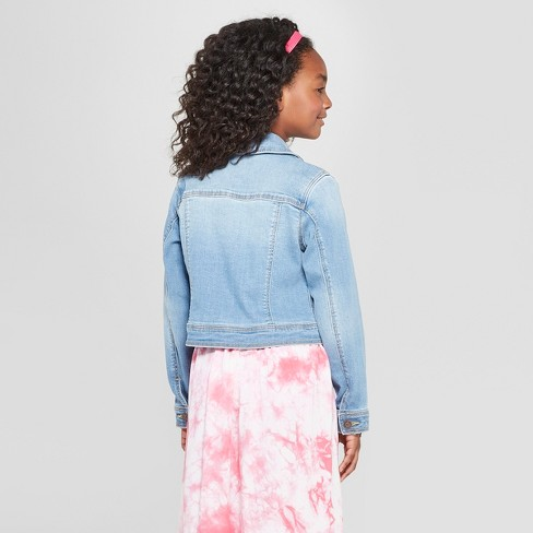 1295d49f315 Girls' Jean Jackets - Cat & Jack™ Light Wash : Target