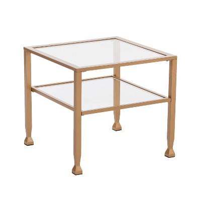 Jamel Metal/Glass Bunching Cocktail Table Gold - Aiden Lane