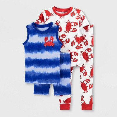 Toddler Boys' 4pc Crab Pajama Set - Just One You® made by carter's Red/Blue
