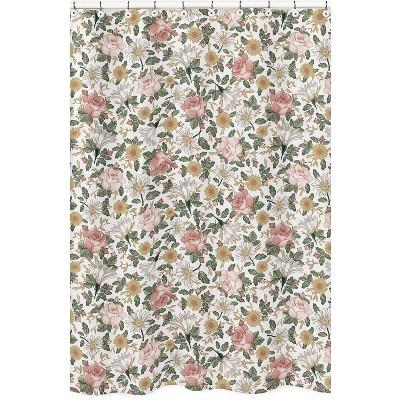 Vintage Floral Shower Curtain - Sweet Jojo Designs