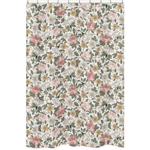 Vintage Floral Shower Curtain - Sweet Jojo Designs - image 1 of 4
