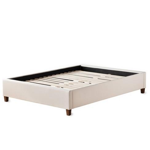 California King Ava Upholstered Platform Bed With Slats Cream Brookside Target