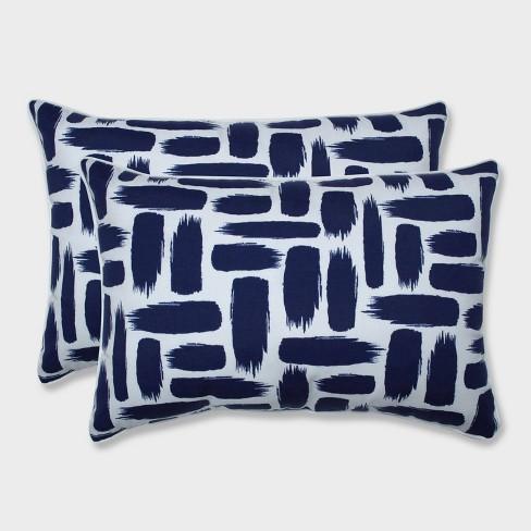 2pk Oversize Baja Nautical Rectangular Throw Pillows Blue - Pillow Perfect - image 1 of 1