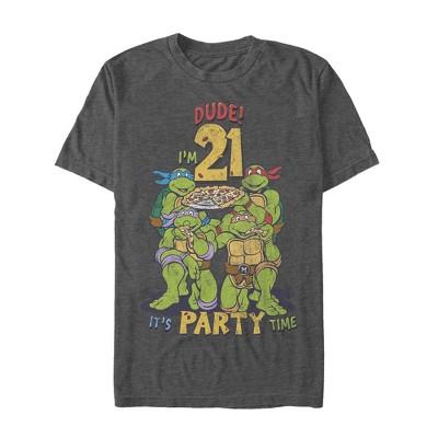 Men's Teenage Mutant Ninja Turtles 21st Birthday Pizza Party T-Shirt