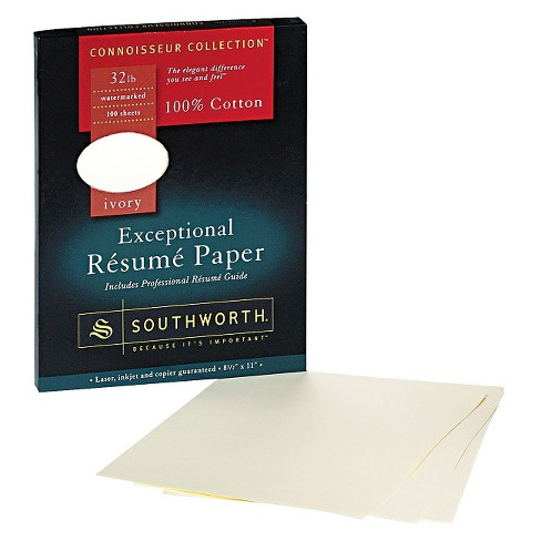 Southworth Resume Paper | Southworth Cotton Resume Paper Ivory Target