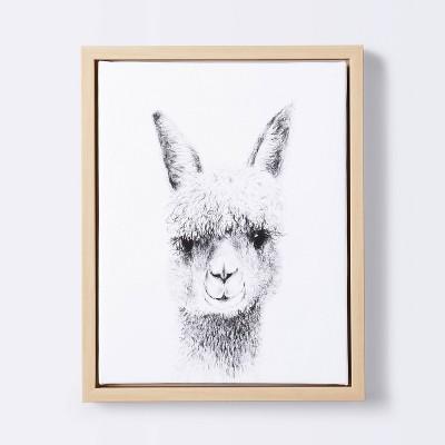 11x14 Framed Canvas Llama - Cloud Island™