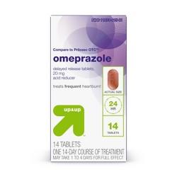 Omeprazole Delayed-Release Acid Reducer - 20mg Tablets - Up&Up™