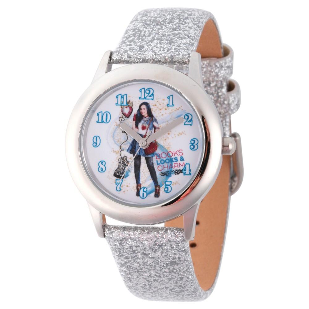 Girls' Disney Descendants 2 Evie Tween Stainless Steel Watch - Silver, Purple