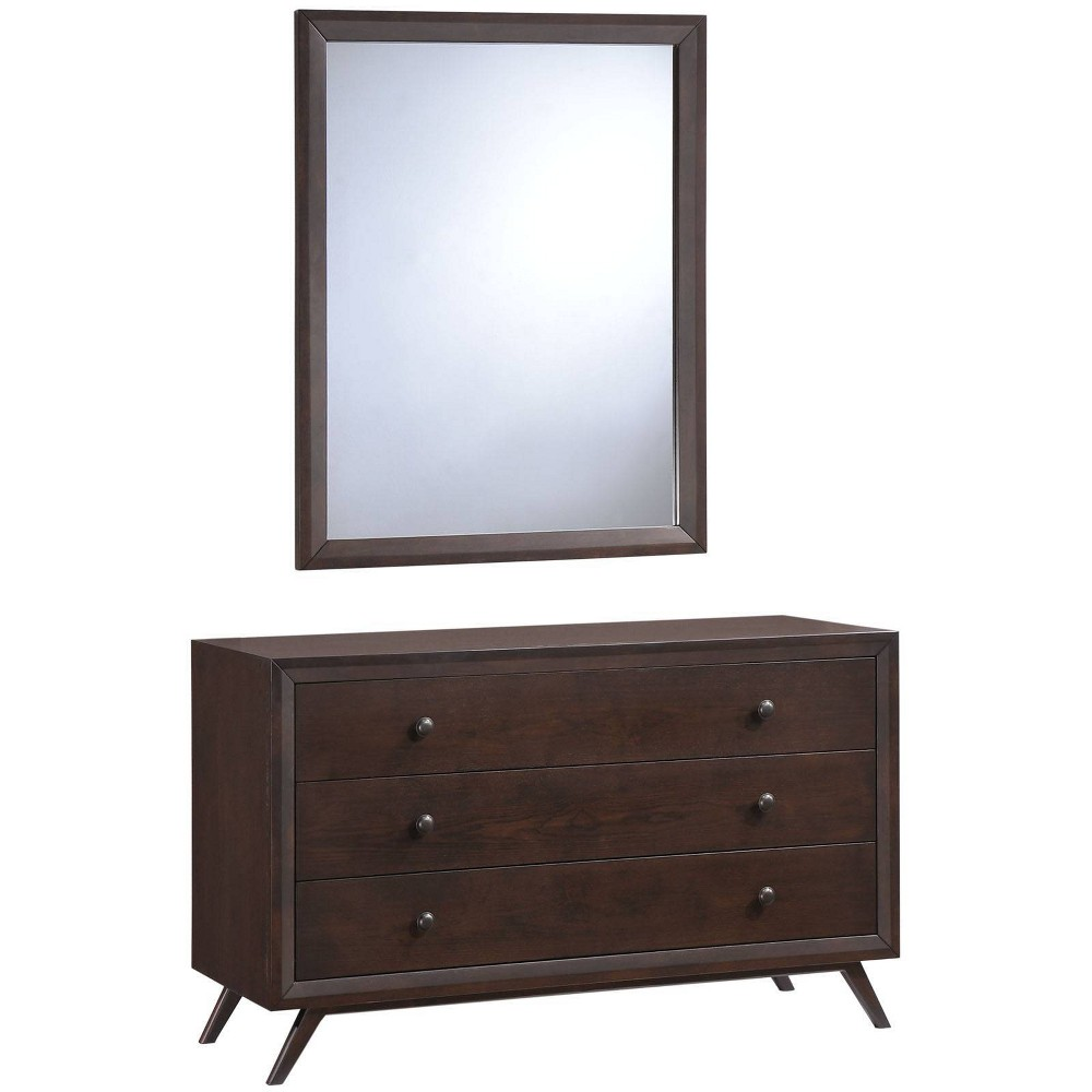 Tracy Dresser & Mirror Cappuccino - Modway