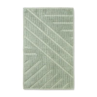 34 x20  Woven Cotton Bath Rug Green - Project 62™ + Nate Berkus™