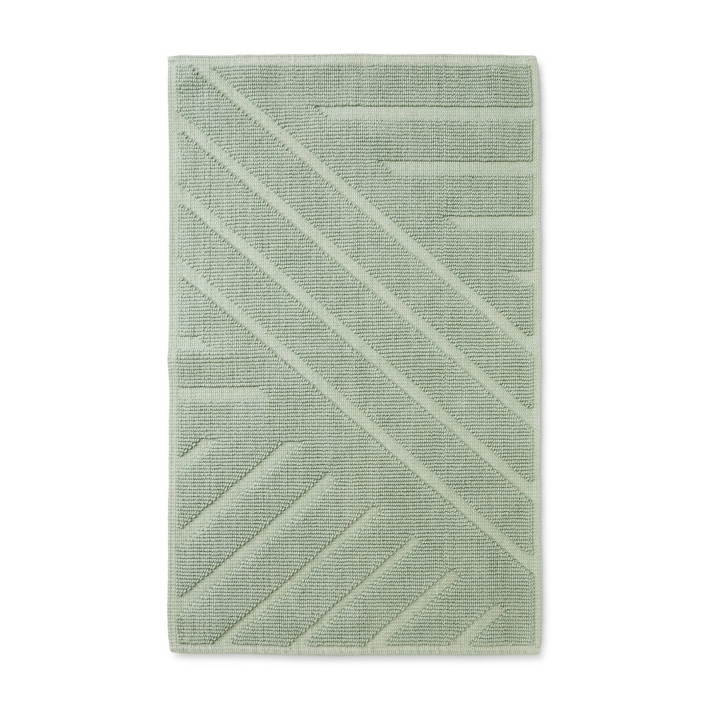 "Image of ""34""""x20"""" Woven Cotton Bath Rug Green - Project 62 + Nate Berkus"""