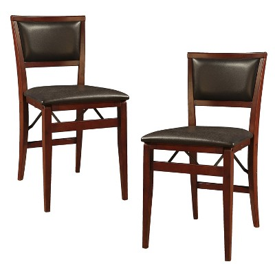 Set of 2 Keira Padded Back Folding Chair - Linon®