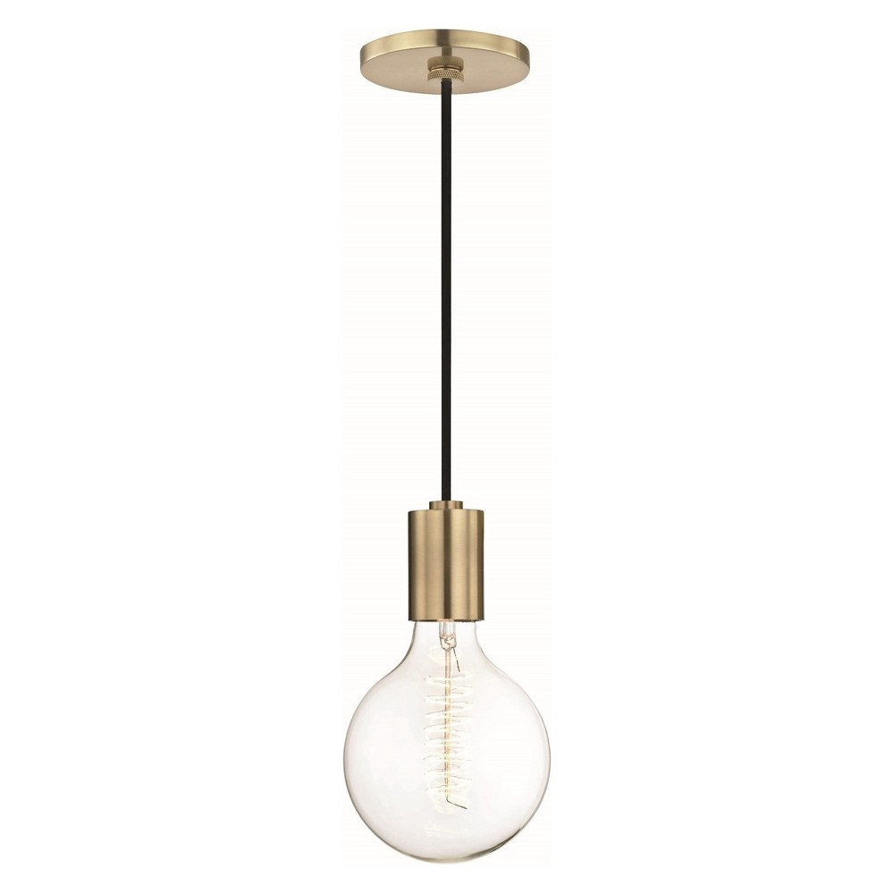 Image of Ava 1-Light Pendant Chandelier Aged Brass - Mitzi by Hudson Valley