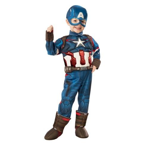 0adba4985012 Toddler Captain America Deluxe Halloween Costume : Target
