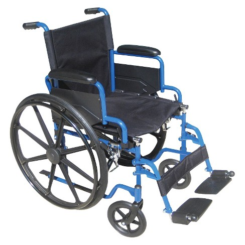 "Drive Medical Wheelchair - Blue and Black (18"") - image 1 of 1"