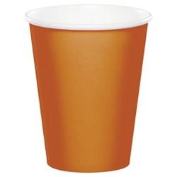 24ct Pumpkin Spice Orange Cups