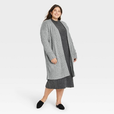 Women's Cable Knit Open-Front Cardigan - A New Day™