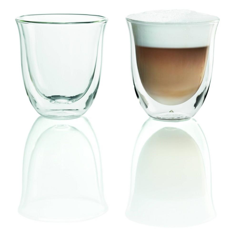 Image of Delonghi Cappuccino Cups 2pk, Clear
