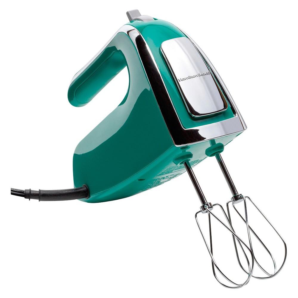 Image of Hamilton Beach 6 Speed Open Handle Hand Mixer with Case - Emerald Green 62623, Green Green
