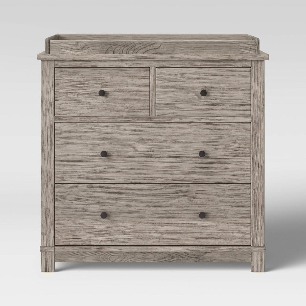Image of Monterey 4 Drawer Dresser/Changer Combo - Rustic White