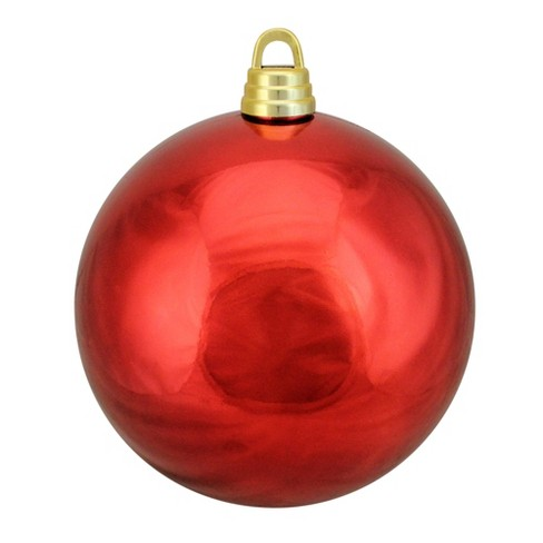 Red Christmas Ball Ornaments.Northlight 12 Shatterproof Shiny Christmas Ball Ornament Red