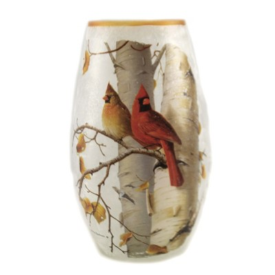 "Stony Creek 7.0"" Fall Cardinals Med Vase Pre-Lit Autumn  -  Novelty Sculpture Lights"