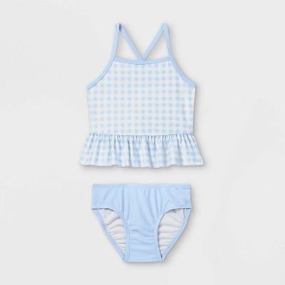 Toddler Girls' Gingham Tankini Set - Cat & Jack™ Blue