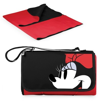Picnic Time Disney Minnie Mouse Blanket Tote Outdoor Picnic Blanket - Red