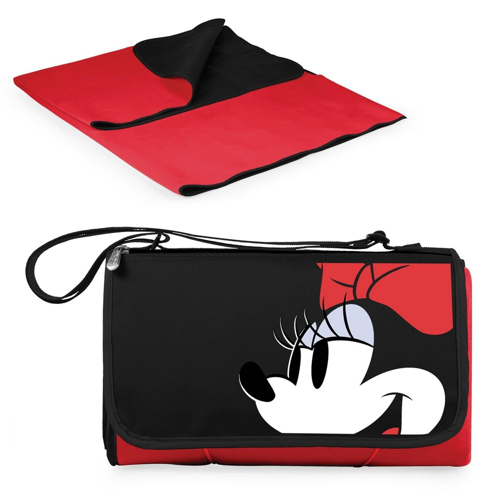 Picnic Time Disney Minnie Mouse Blanket Tote Outdoor Picnic Blanket Red
