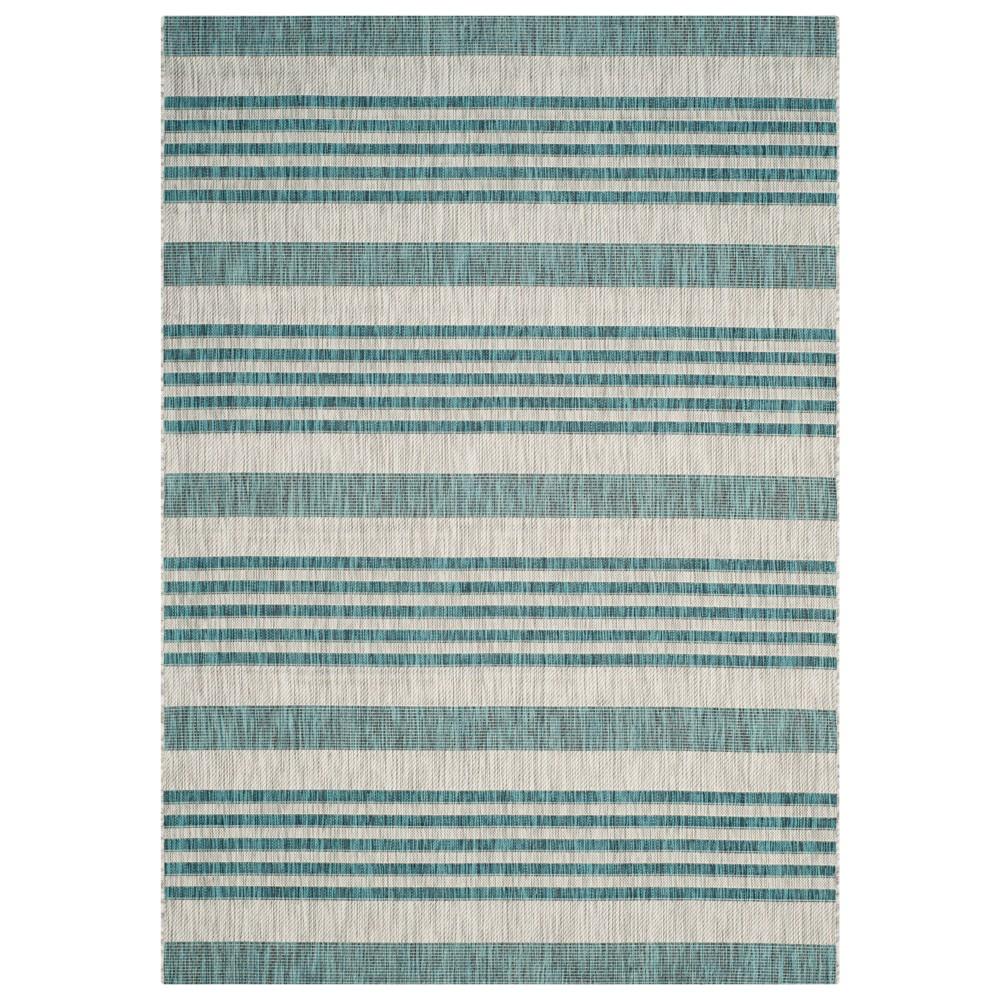 Dudley Rectangle 4'X5'7 Patio Rug - Gray/Blue - Safavieh