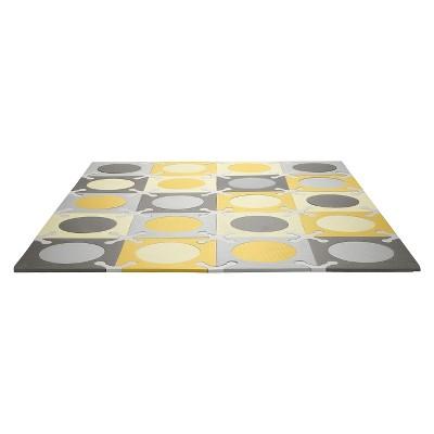 Skip Hop Playspot Interlocking Foam Tiles - Gold/Gray