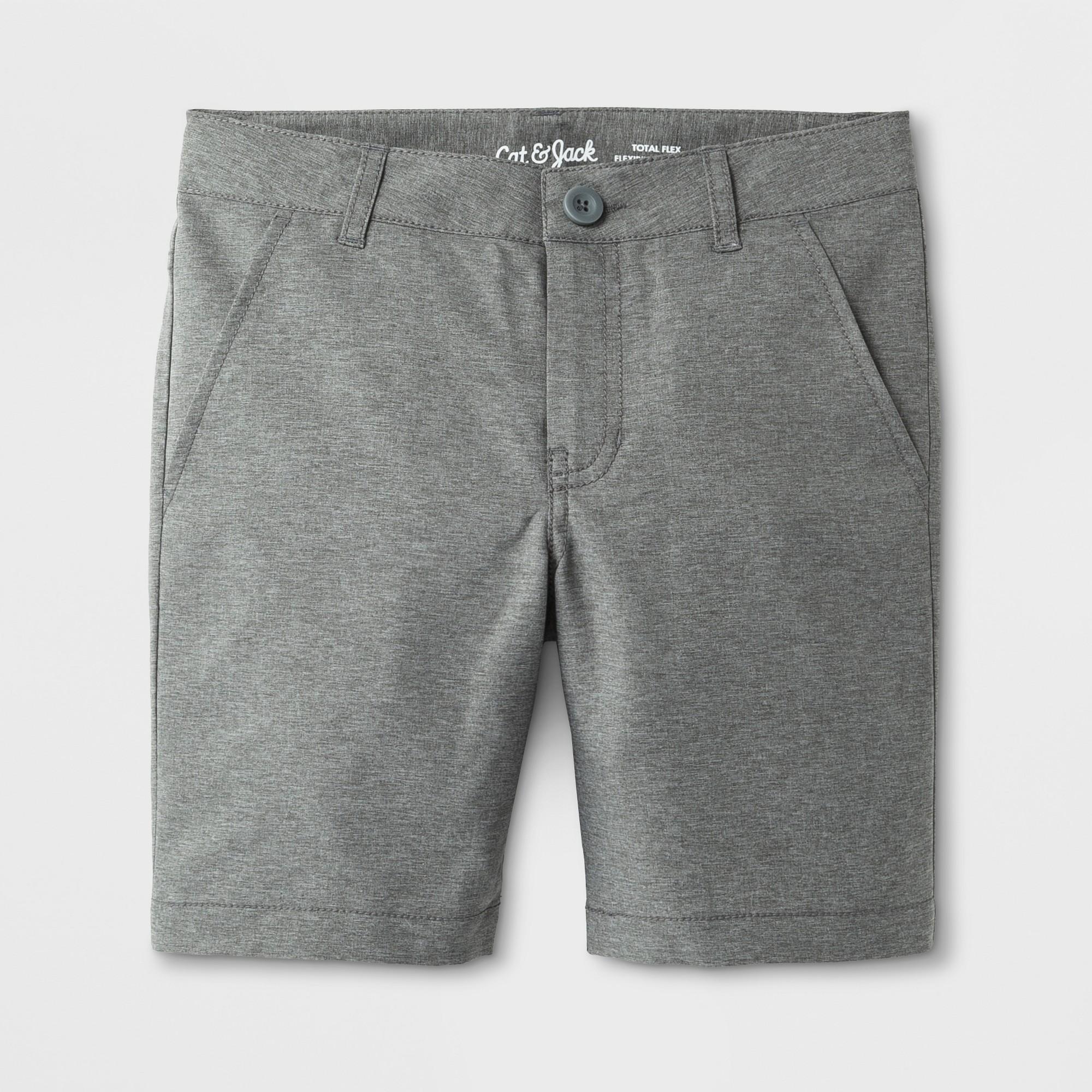 Boys' Quick Dry Chino Shorts - Cat & Jack Gray 12