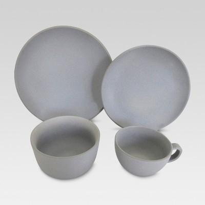 Ceramic 16pc Dinnerware Set Gray - Threshold™