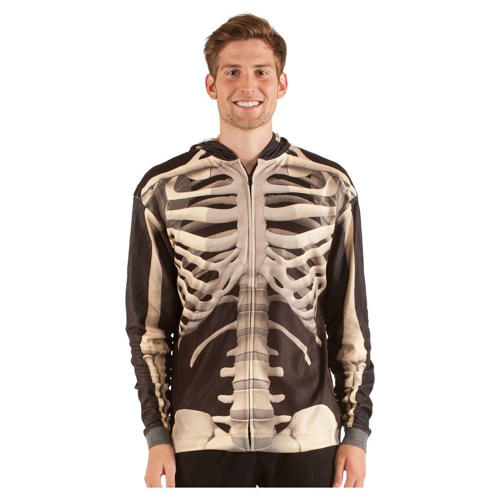 Men's Skeleton Sweatshirt Costume Shirt - Small, Black