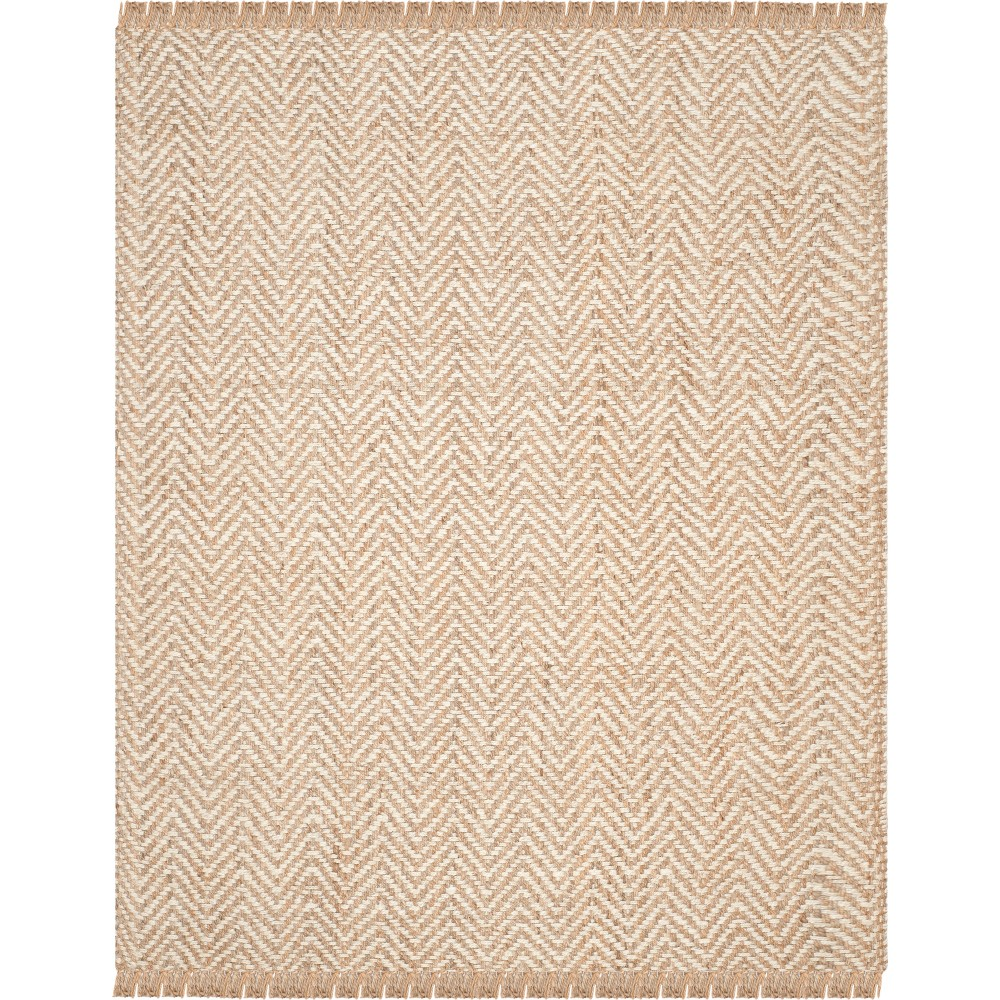 Chevron Woven Area Rug Bleach/Natural