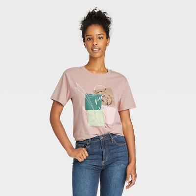 Women's Disney Tinkerbell Short Sleeve Graphic T-Shirt - Light Mauve