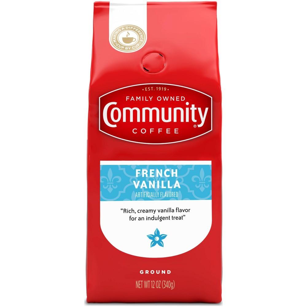Community Coffee French Vanilla Medium Dark Roast Ground Coffee 12oz