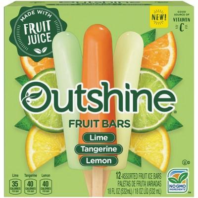 Outshine Lime Tangerine & Lemon Frozen Fruit Bars - 12ct