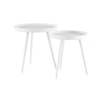 Nesting End Tables with Tray Top - Lavish Home
