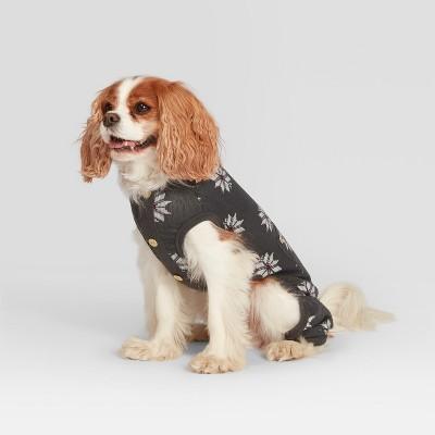 Pet Fair Isle Holiday Pajamas - Gray L - Hearth & Hand™ with Magnolia