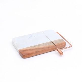 Cheese Slicer Marble/Wood - Threshold™