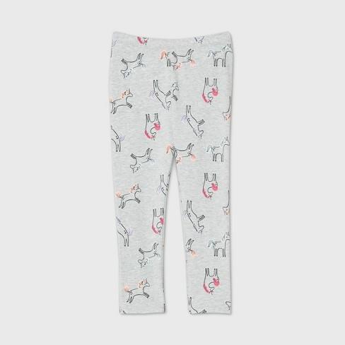 Toddler Girls' Unicorn Leggings - Cat & Jack™ Gray - image 1 of 1