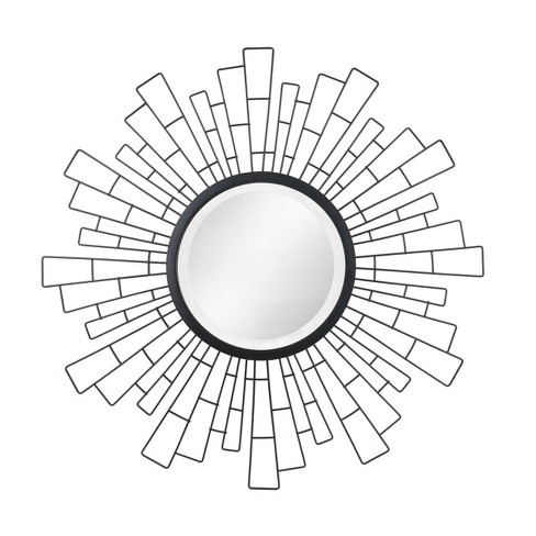 "23.5"" x 23.5"" Metal Geometric Sunburst Decorative Wall Mirror - Stonebriar Collection - image 1 of 4"