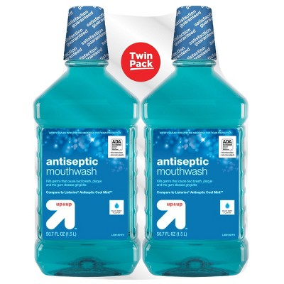 Antiseptic Blue Mint Mouth Wash - 50.7 fl oz/2pk - up & up™