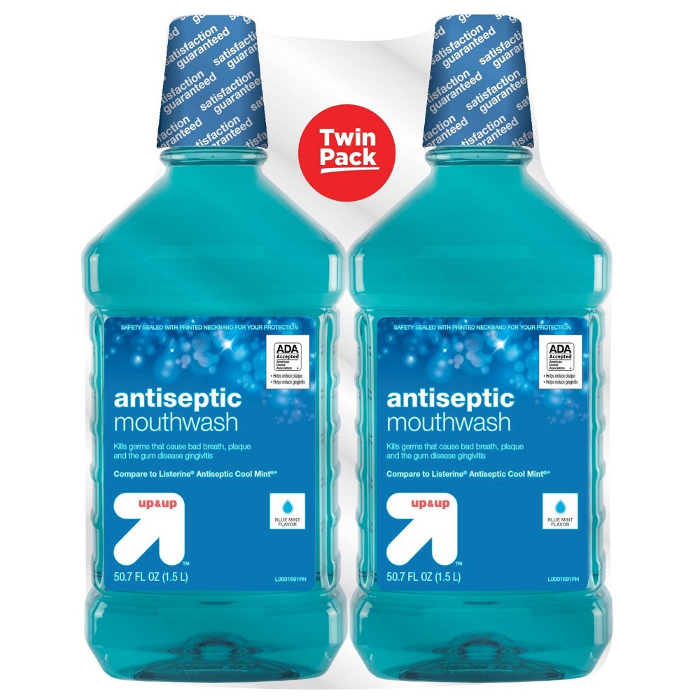 Image of Antiseptic Blue Mint Mouth Wash - 50.7 fl oz/2pk - Up&Up