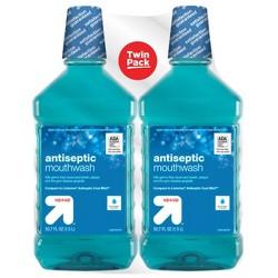 Antiseptic Blue Mint Mouth Wash - 50.7 fl oz/2pk - Up&Up™