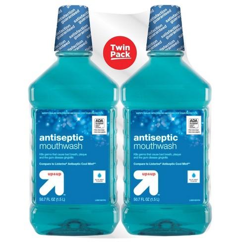 Antiseptic Blue Mint Mouth Wash - 50.7 fl oz/2pk - up & up™ - image 1 of 1